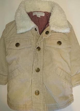 Нереально модная вельветовая куртка деми курточка h&m на малыша 4-6 месяцев 68 см  рост