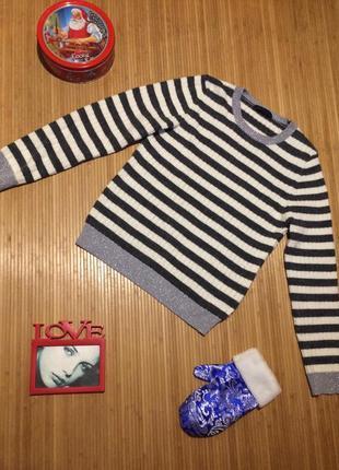 Хорошенький свитерок в полоску, размер xxl