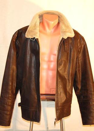 Куртка кожаная river island р.xl original