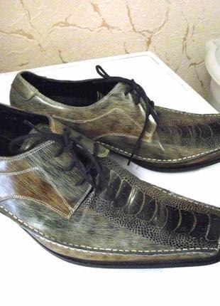 Эксклюзив! италия! кожаные мужские туфли gucinari, р.43 код n4304