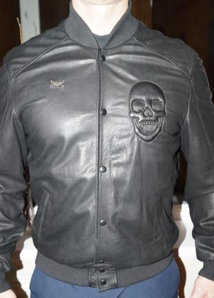 Продам кожаную куртку  philipp plein, оригинал