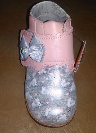 Ортопедические ботинки 19-26 р на девочку, демисезон, дівчинку, весенние, липучке, зайки