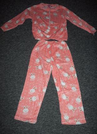 Мягусенькая велюровая пижама домашний костюм