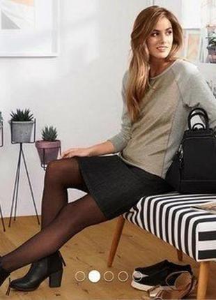 Tcm tchibo woman серый свитшот с люрексом германия джемпер пуловер большой размер 50 52