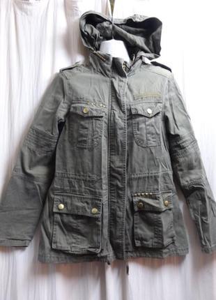 Куртка ветровка милитари с капюшоном