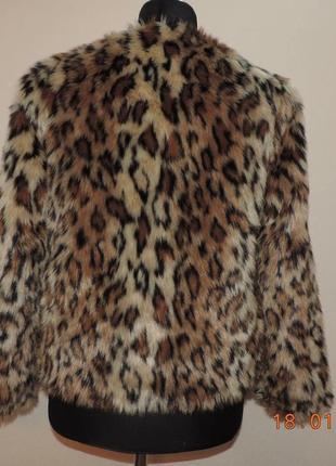 Шубка леопардовая primark