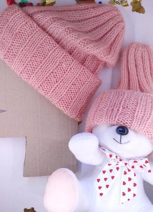 Комплект шапок мама и дочка фэмилилук