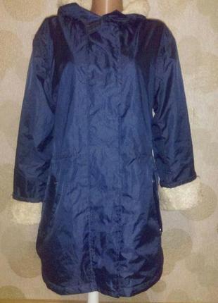 Актуальная ветровка куртка дождевик  с плюшевой подкладкой