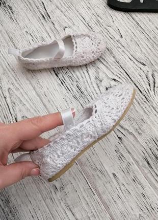 Стильные ажурные туфли туфельки балетки hm h&m для девочки