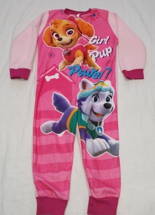 Флисовый человечек ромпер слип пижама щенячий патруль 4-5 лет 110 см