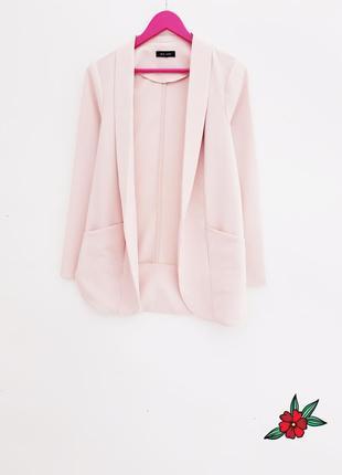 Нежно розовый кардиган пиджак красивый кардиган с карманами