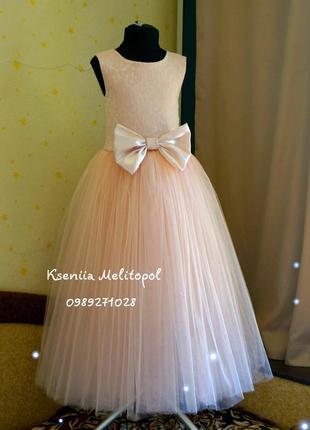 Вечернее выпускное платье, нарядное платье, пышное платье, праздничное платье из фатина