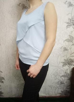 Блуза маечка шифоновая с гипюром