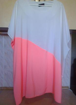 Новая элегантная блуза туника, отлично в офис, на 60-64 разм, поб 83
