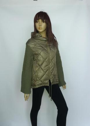 Куртка max mara 097, с прикольными вязанными рукавами. осталась последняя
