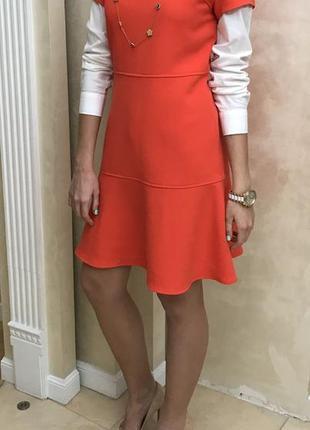 Платье коралловое красное michael kors оригинал весеннее офисное весна короткое