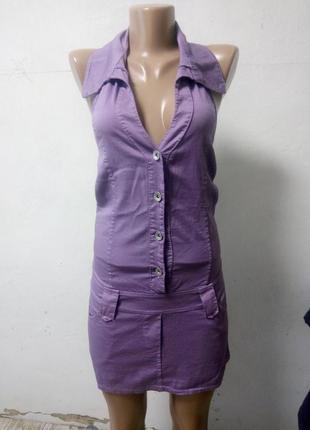 Платье с открытой спиной размер s