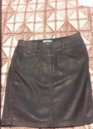 Юбка джинсовая под кожу тм tom teilor р 38
