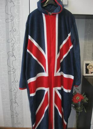 Кигуруми флаг англия пижама комбинезон лыжный костюм хл=ххл рост до 2 м