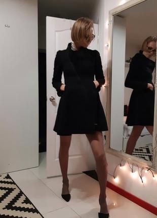 Платье из буклированной шерсти