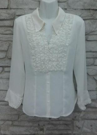 Распродажа!!! красивая, стильная блуза с жабо