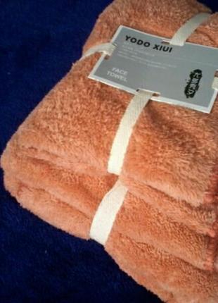 Комплект премиум полотенца микрофибра  в подарочном мешочке баня и лицо