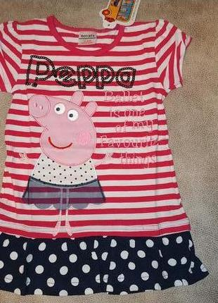 Платье-туника свинка пеппа tm nova короткий рукав