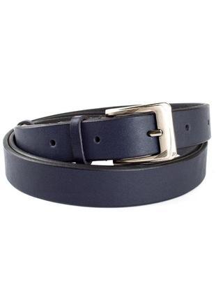 Женский кожаный ремень kb-25 d.blue (2,5 см)