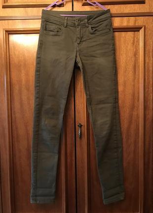 Женские джинсы, джинсы скини, джинсы в обтяжку, джинсы хаки, h&m