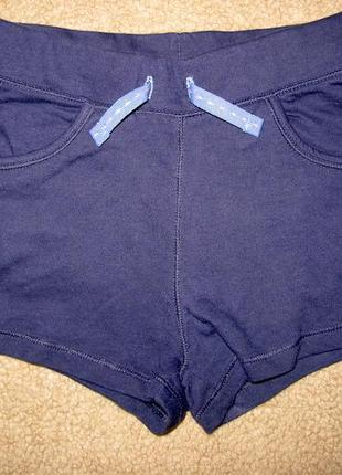 Темно- синие шорты h&m на 5-6 лет
