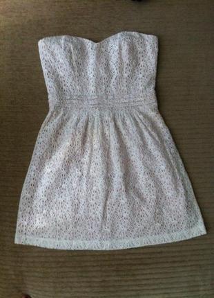 Платье бюстье кружевное ажурное размер s/m
