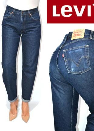 Джинсы момы бойфренды высокая посадка индиго mom мом jeans levis 521 02. de8848d02186e
