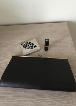 Стильный клатч цвет чёрный шоколад