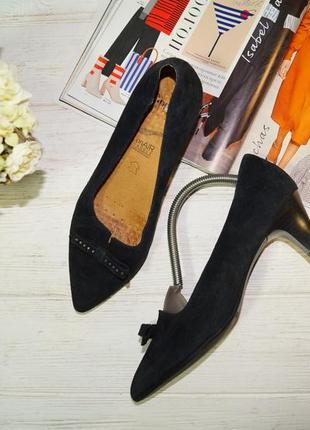 Caprice! кожа/замша! красивые комфортные туфли на удобном каблучке