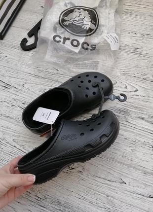 Тапки тапочки утепленные кроксы crocs m4-5 w6-7