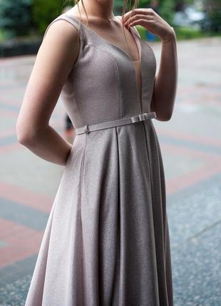 Роскошное , сверкающее вечернее платье
