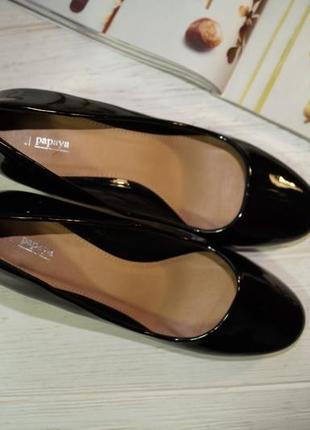 Papaya! базовые фирменные туфли на устойчивой шпильке4