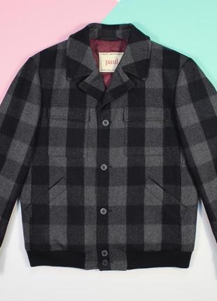 Топовый шерстяной бомбер-пальто от paul clothing