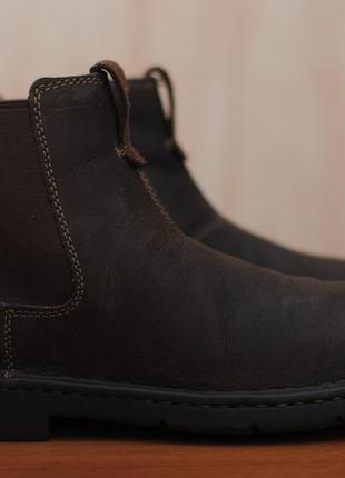 731c122dae53 Коричневые кожаные мужские ботинки, челси clarks, кларкс. 40 размер.  оригинал