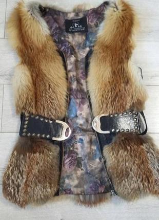 Хутряна жилетка з лисиці