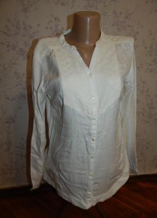Marks&spencer блузка вискозная стильная, модная р10 indigo collection