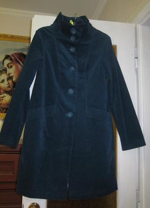 Пальто-тренч бархатне. англія.2 фото