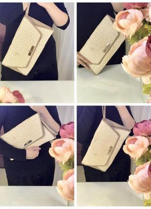 Клатч/ базовая небольшая сумка / плетенная сумочка atmosphere