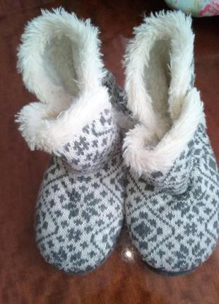 Кімнатні тепленькі чобітки на ніжку 20-21