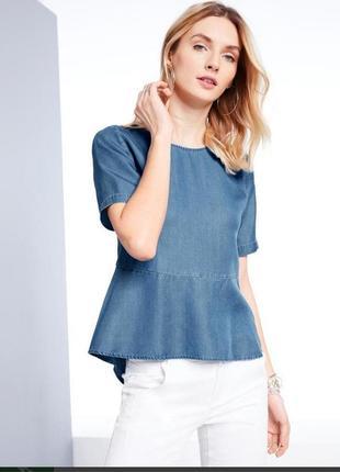Стильная блузка под джинс из лиоцелла тсм чибо германия. оригинал!