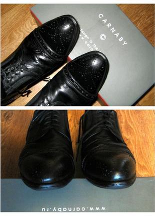 Фабричный мужские туфли carnaby, классика, 100% натуральная кожа, р.43 ( eccc5fe6757