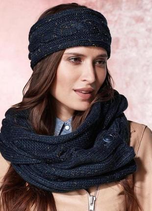 Шикарный шарф снуд tcm tchibo германия