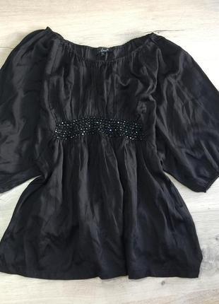 Чёрная батистовая блузка