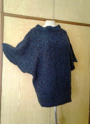 Синий свитер - накидка, 2хl-3xl.