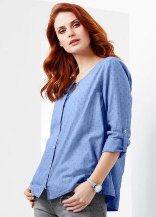 Нежная рубашка шамбре из органического хлопка тсм чибо германия, размер 42 евро=48